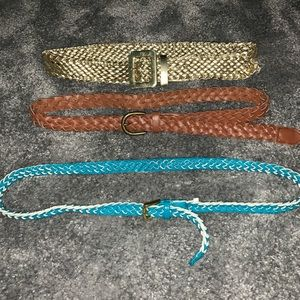 BUNDLE DEAL!!!! 3 BELTS ALL SMALL